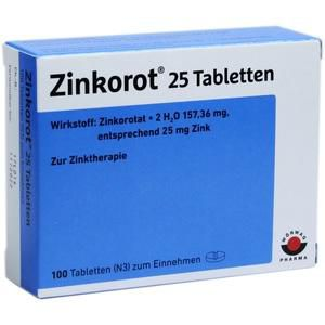 ZINKOROT 25 Tabletten